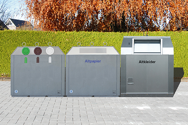 Container pentru reciclare sticla cu sistem suprateran | Bauer C