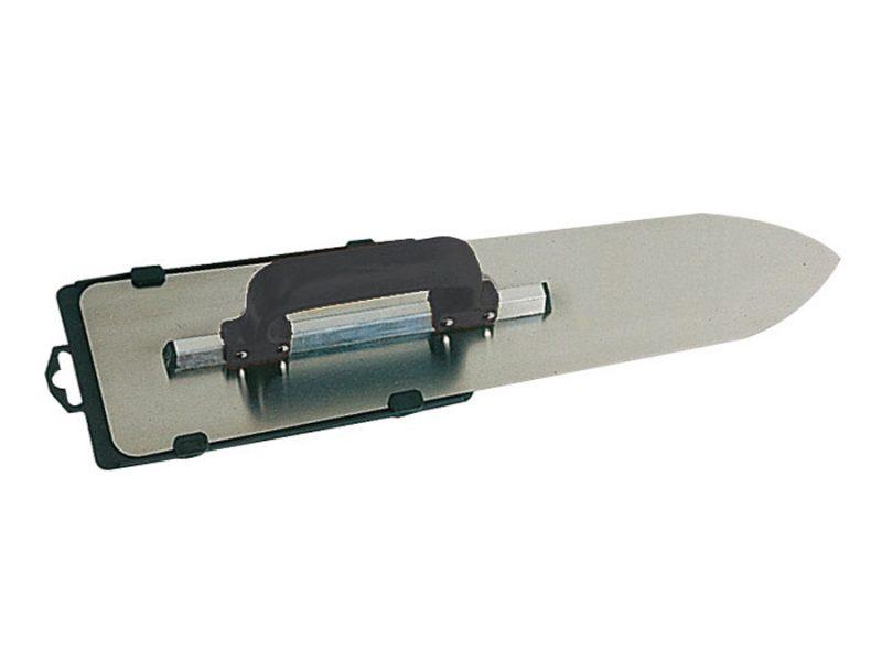 Gletiera din otel model flamand cu montura de aluminiu varf tip focos maner PVC inchis Gletiera din otel, model flamand, cu montura de aluminiu, varf tip focos, maner PVC inchis | Mob-Ius - Unilift
