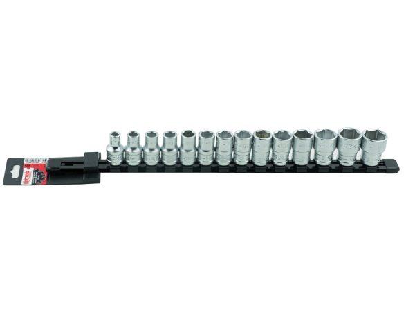 "Set 14 capete chei tubulare 127 mm SH pe suport metalic Set 14 capete chei tubulare 1/2"" SH pe suport metalic | Mob-Ius - Unilift"