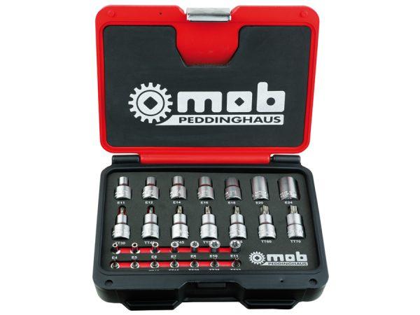 "Trusa 28 capete tubulare Torx MULTITORX 63 mm 127 mm Trusa 28 capete tubulare Torx, MULTITORX 1/4""-1/2"" | Mob-Ius - Unilift"