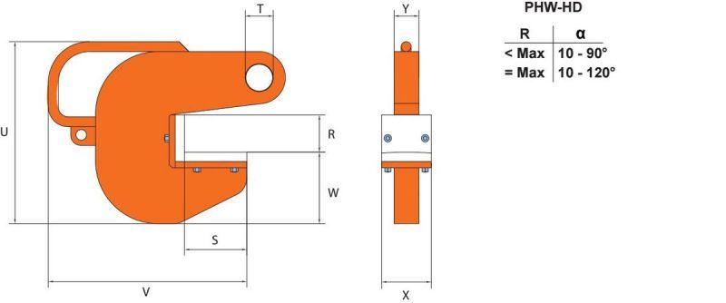 PHW HD grau orange 1 Ancora PHW/PHW-HG pentru tevi din otel | PeWag - Unilift