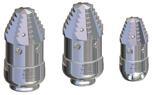 duza rotativa din otel inoxidabil tevi pa 3086 Duza rotativa din otel inoxidabil RR-TF SST | PA - Unilift