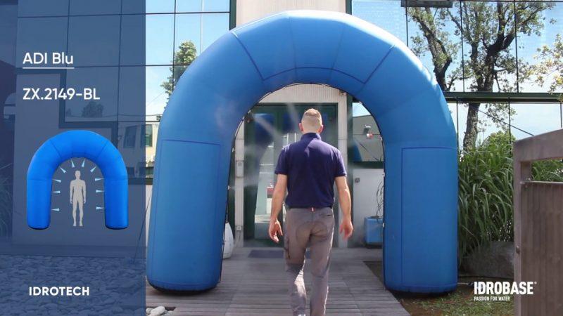 idrobaseadiblu Poarta de acces pneumatica Adi Blu pentru dezinfectarea persoanelor | Idrobase - Unilift