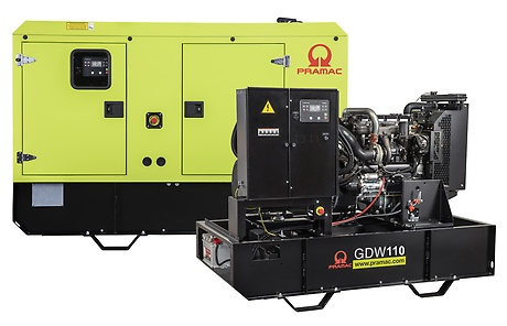 110 Generator Electric Industrial | GDW110I/SNE | Diesel | Pramac | 97.0 kVa | 240/120 V - Unilift