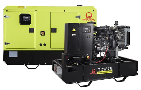 Generator Electric Industrial | GDW75P/ST3 | Diesel | Pramac | 74.1 kVa | 240/120 V - Unilift