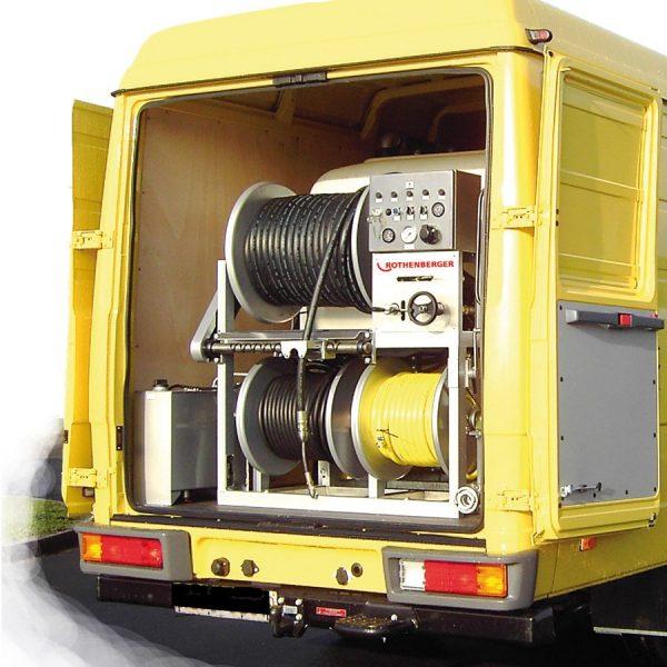 76485 Unitate de curățare de înaltă presiune pentru scurgeri pentru uz profesional   ROJET 130/160   Rothenberger - Unilift