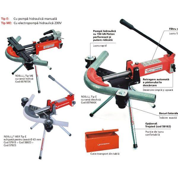 robull mic Masina hidraulica pentru îndoiri precise până la 90°   ROBULL   Rothenberger - Unilift